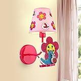 TOTO-personalizzata lampada da letto semplice arte per bambini di fiore giovane creativo ha condotto la lampada da parete di illuminazione studio comodino