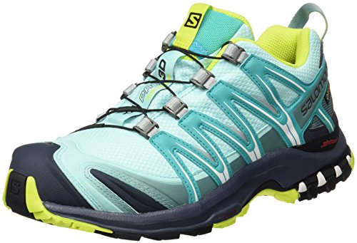 Salomon Xa Pro 3d Gtx W, Chaussures de Trail Femme, Multicolore (Ablue/Ombre Blue/Lime P), 39 1/3 EU