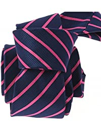 Clj Charles Le Jeune - Cravate Clj, Xv Navy Et Rose