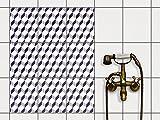 creatisto Fliesen aufkleben   Muster-Fliesenfolie Badezimmerfliesen Dekofolie Küchengestaltung   20x25 cm Muster Ornament 3D Cubes - Grau - 9 Stück