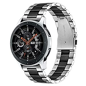 TRUMiRR Armband Kompatibel mit Galaxy Watch 46mm/Gear S3 Classic/Gear S3 Frontier Armband Metall,22mm Solide Edelstahl Uhrenarmband Quick Release Armband für Samsung Galaxy Watch 46mm,Huawei Watch GT