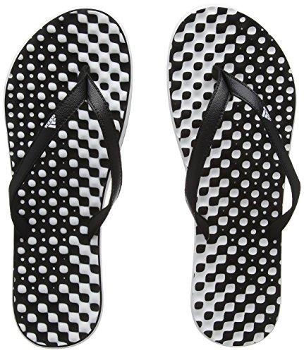 adidas Damen Eezay Dots W Dusch-& Badeschuhe, Weiß (Footwear White/Core Black/Core Black 0), 42 EU