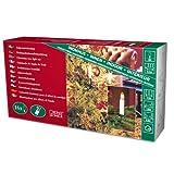 Konstsmide 2010-000 Baumkette mit Topbirnen /  für Innen (IP20) /  230V Innen /  teilbarer Stecker / 16 klare Birnen / grünes Kabel