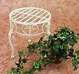 DanDiBo Sgabello fiori Romance 25cm Porta fiori 20218 Porta-piante Tavolinetto bianco