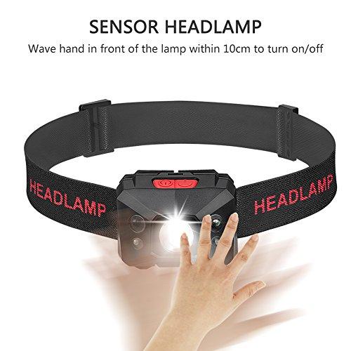 Stirnlampe LED, USB Wiederaufladbare Kopflampe Wasserdicht Leichtgewichts stirnlampen Perfekt fürs Joggen, Laufen Campen Angelnund Radfahren, für Kinder und mehr - 7