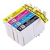 PerfectPrint Kompatibel Tinte Patrone Ersatz für Epson BX3450 Stylus CX4300 D120 D5050 D78 D92 DX400 DX4000 DX4050 DX4400 DX4450 DX5000 DX5050 DX6000 DX6050 T0715 (Schwarz/Cyan/Magenta/Gelb, 4-Pack)
