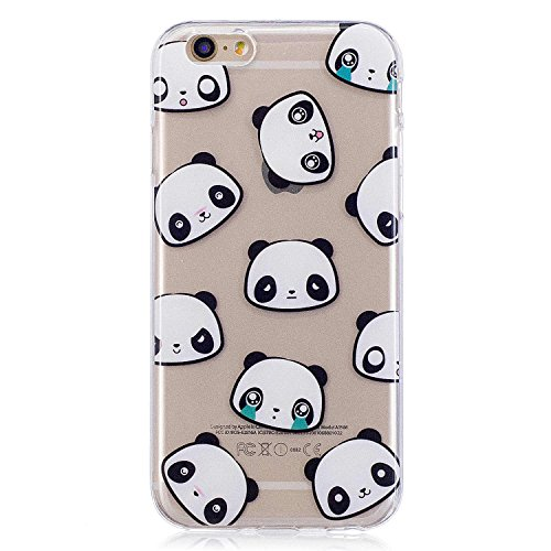 iPhone 6 Hülle,iPhone 6S Hülle, MSK TPU Silikon Schutz Handy Hülle Handytasche HandyHülle Etui Schale Schutzhülle Case Cover Tasche Etui für Apple iPhone 6 / iPhone 6S - Panda Panda