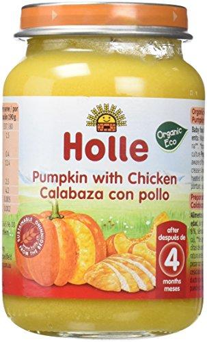 Holle Potito de Calabaza con Pollo (+6 meses) - Paquete de 6 x 190 gr - Total: 1140 gr