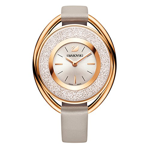 Swarovski crystalline oval rose gold tone orologio
