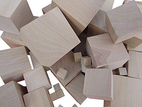 10 x cubos madera arte madera 10 mm 75 mm, madera