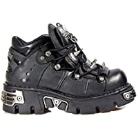 NEWROCK 110-S1 Black Leather Stud Biker Boots