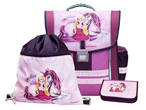 """Zauberhafte Schultasche """"Pegasus"""" mit Federmäppchen und Turnbeutel"""