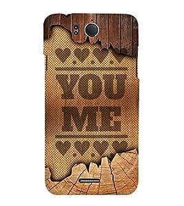 You Love Me Design 3D Hard Polycarbonate Designer Back Case Cover for InFocus M530