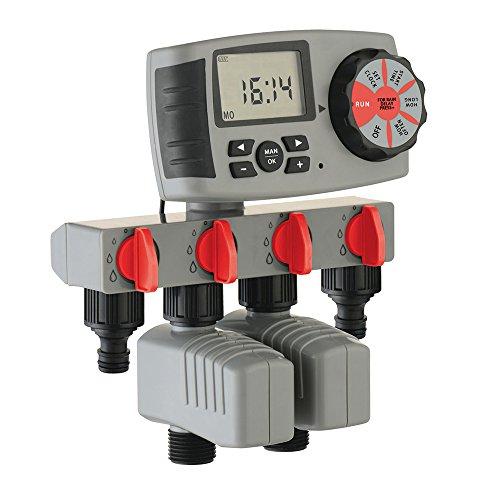 Sistema automático riego 4 Zonas Controlador Temporizador
