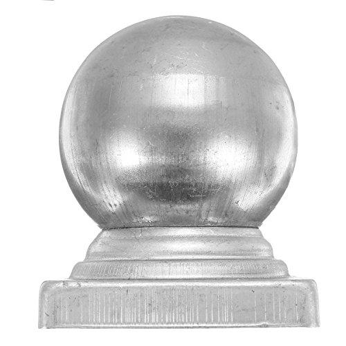 MYAMIA 40mm 60Mm 70 Mm Eisen Kugel Top Zaunpfosten Kreuzblume Kappe mit Flat Square Base Dekor Schutz-60Mm -