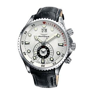 Sandoz 72587-00 – Reloj de Caballero de Cuarzo, Correa de Piel Color Negro