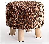 YZjk Paño de Madera maciza Cuadrado Ideas simples modernas Sofá creativo Sala de Estar Dormitorio Taburetes Zapatos Taburete de repuesto (Color: A)