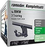 Rameder Komplettsatz, Anhängerkupplung abnehmbar + 13pol Elektrik für BMW 3 Touring (113179-04088-1)