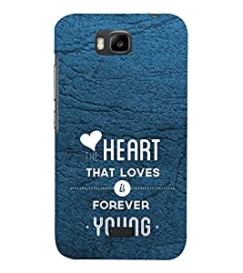 PrintVisa Designer Back Case Cover for Huawei Honor Bee :: Huawei Honor Bee Y5c (Soulmates Quote)