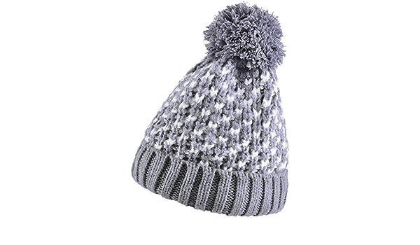 Bonnet pompon AMALIA Gris  Amazon.fr  Vêtements et accessoires a52e06cfb4f