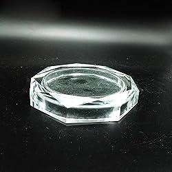 GTVERNH-Crystal Crafts Verre de Cristal cendrier de Style européen de Forme octogonale Bar Le cendrier en Cristal cendrier 180 mm ktv Accueil