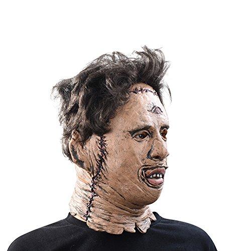 AMSIXP Maske Die Texas Kettensäge Massaker Beängstigend Film Cosplay Halloween Kostüm Requisiten Party Latex Maske (Kettensägen Massaker Kostüm)