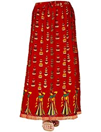Kurti Studio Women Red Premium Long Skirt