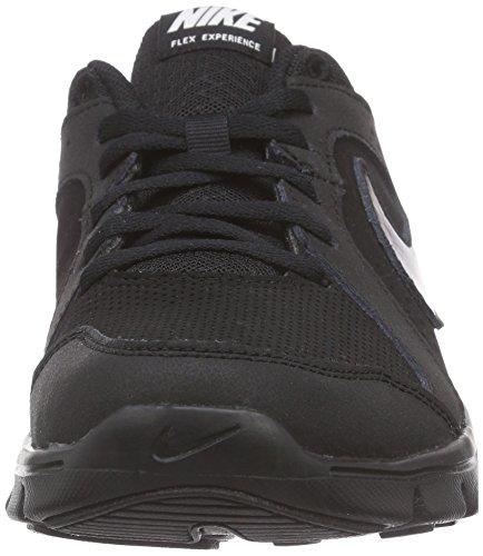 Nike Flex Experience Leather (Gs), Chaussures de course mixte enfant Noir - Schwarz (Black/Black-Black 003)