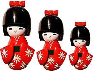 Déco Zen & Feng Shui - Poupée japonaise kokeshi rouge