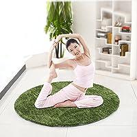 GFYWZ Camera da letto soggiorno computer sedia stuoia tappeto Yoga coperta anti-tappetino antiscivolo , green , 130cm