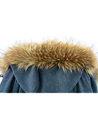 jeracol mapache Cuello Desmontable grande extraíble pelo–Trim para abrigos o capucha bordes, 75* 15cm