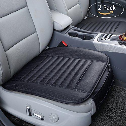 Universal Auto Sitzauflagen PU Leder Kissen 2 Stück, Oziral Breathable Bambuskohle Sitzkissen Eisseide Auto Vordersitz Kissen Test
