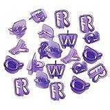 Sharplace 40pcs Ausstechformen, Fondant Ausstecher, Auswerfer, Stempel mit Buchstaben