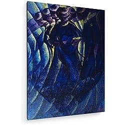 Luigi Russolo - Bewegungen Einer Frau - 60x80 cm - Leinwandbild auf Keilrahmen - Wand-Bild - Kunst, Gemälde, Foto, Bild auf Leinwand - Alte Meister/Museum