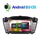 Android 8.0 Autoradio Stereo 4GB RAM GPS Navigation für Hyundai Tucson Ix35/tucsson IX 2009-2014 mit 7 Zoll Bildschirm Unterstützung DVD Multimedia Player Bluetooth FM AM RDS 1080P Video WLAN