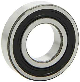 SKF 6206-2RS1/C2 Radial Bearing, Single Row, Deep Groove Design, High Temperature Grease, ABEC 1 Precision, Double Sealed, Contact, C2 Clearance, Standard Cage, 30mm Bore, 62mm OD, 16mm Width