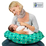 Kradyl Kroft 5in1 Baby Feeding Pillow with Detachable Cover (Cyan Star)