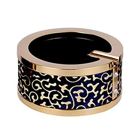 GUO - Cendrier Creative Smoking Cup Zinc Alloy Leather Fumée Barrel European Internet Bar Accueil Conférence Cendrier