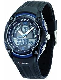 Sector Herren-Armbanduhr STREET FASHION Analog Quarz Kautschuk R3251574003
