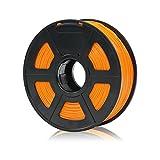 ANYCUBIC PLA+ 3D Drucker Filament, Toleranz beim Durchmesser liegt bei +/- 0,02mm, 1kg Spule, 1.75mm für 3D-Drucker und 3D-Stifte,Verschiedene Farben (Orange)