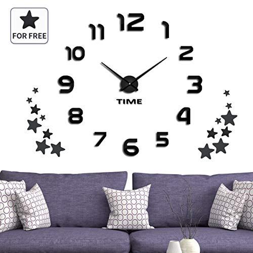 Wohn Uhr Badezimmer Acryl Für Quarz Schlaf Wanduhr Diy Aufkleber Sterne Jeteven Dekorative 3d 16 Mit Kinder Büro Küche Groß strQdxhC
