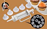 Cookie Press and Cake Decorator Decorating Tools Kit Set with 6 Funnel Icing