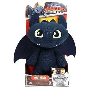 Spin Master 6020113 - DreamWorks Dragons - Deluxe Ohnezahn Funktionsplüsch 30cm