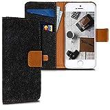 kwmobile Coque Apple iPhone Se / 5 / 5S Portefeuille - Étui à Rabat Similicuir avec...