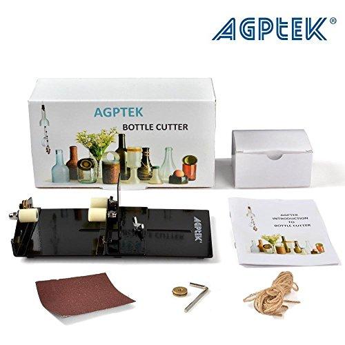 AGPtek Cortador de Botellas de Vidrio, Fácil para Cortar las Botellas de Vino de Longitud de no más de 16cm, para Crear Manualidades y Decoración del Hogar