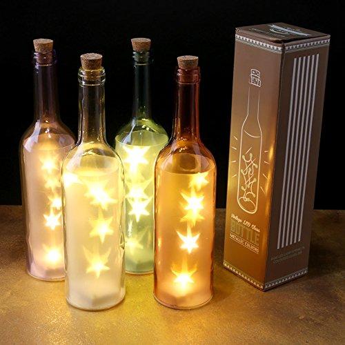 Vintage botella de cristal LED luz