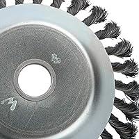 Cepillo de malezas Junta giratoria Nudo giratorio Cepillo de rueda de alambre de acero Disco Disco Paisajismo y corte Maquinaria de riego Accesorios/Plata