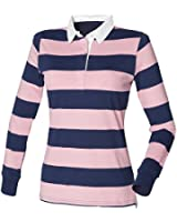 Front Row Womens striped rugby shirt