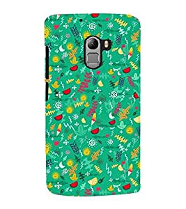 GREEN KIDDISH PATTERN 3D Hard Polycarbonate Designer Back Case Cover for Lenovo K4 Note