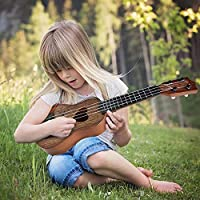 Gaddrt Beginner Classical Ukulele Guitar Educational Musical Instrument Music Toys for Kids (Brown)